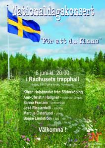Affisch 6 juni Rådhuset 2015