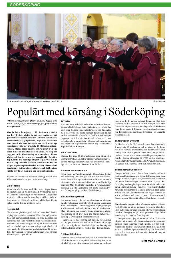 Från Lilla Tidningen maj 2018