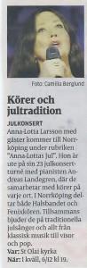 Inför Anna-Lottas Jul, NT 6 december
