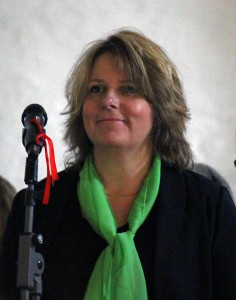 Karin Toresand sjöng solo. (Foto: Kent Käfling)