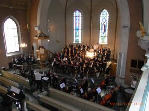 Uppsjungning i S:t Johannes kyrka. (Foto: Sune Berglund)